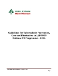 National Guidelines for Tuberculosis Prevention, Care and Elimination in Lebanon- 2017
